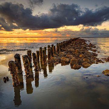 Waddenzee Nederland vierkant formaat van Peter Bolman