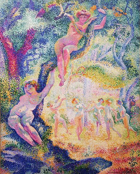 Die Lichtung Anagoria, 1906 von Henri-Edmond Cross von Atelier Liesjes