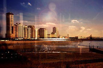 Stadt am Meer von Sonja Pixels