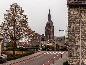 Spoorwegovergang in Bocholtz van John Kreukniet