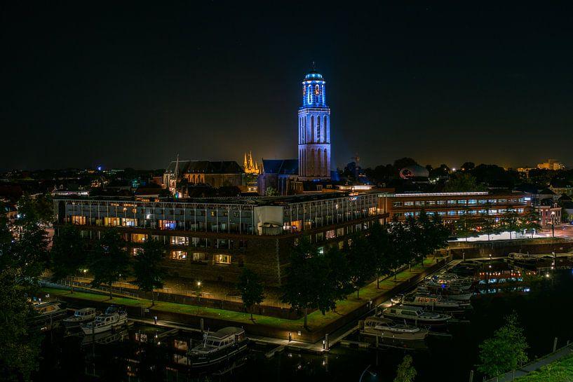 Zwolle by Night van Thomas Bartelds