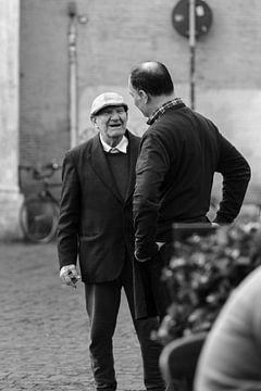 Rom fotografiert in schwarz und weiß, straßenfotografie von heidi borgart
