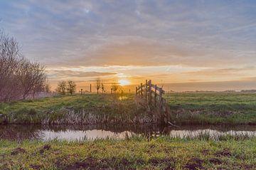 Sonnenaufgang am Nespolder - Bergambacht von Rossum-Fotografie