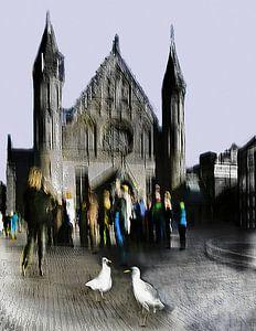 Haagsche sfeertjes Binnenhof impressie van