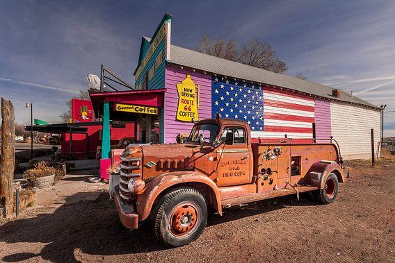 Old Feuerwehr an der Route 66 in Arizona