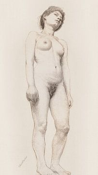 Stehender weiblicher Akt, Otto H. Bacher (1878-1879)