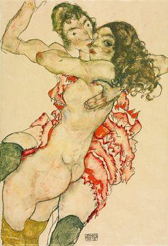 Egon Schiele. Zwei Frauen umarmen