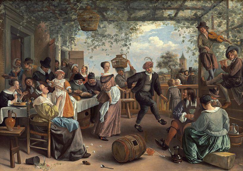 Jan Steen - Het Dansende Paar van 1000 Schilderijen