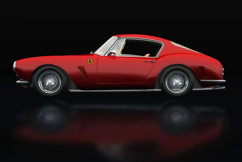 Ferrari 250 GT SWB Berlinetta Zijaanzicht van Jan Keteleer