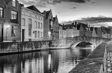 Brugge,  Koningsbrug en Spiegelrei van Michel De Pourcq
