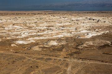 Zicht op de Dode Zee in Israel van Herman IJssel BWPHOTO