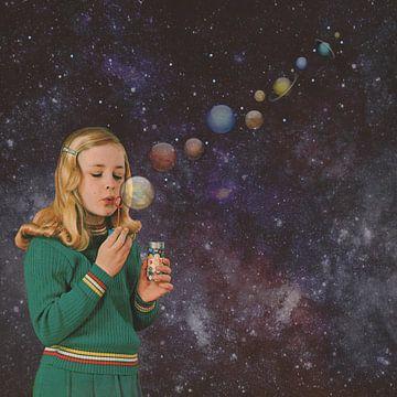 Anna fait des bulles sur des planètes sur toon joosen