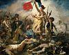 De Vrijheid leidt het volk, Eugène Delacroix - 1830 van Het Archief thumbnail
