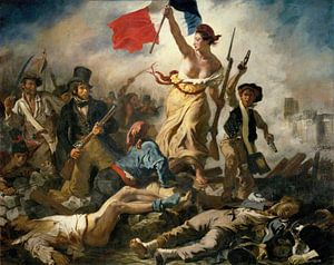 De Vrijheid leidt het volk, Eugène Delacroix - 1830 van