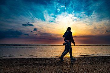 Een mooie zonsondergang op een mooie zomer avond op de nederlandse stranden van Castricum von Mike Bot PhotographS