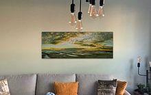 Klantfoto: Zonsondergang op Noordsvaarder bij West-Terschelling van Sven Wildschut, op canvas
