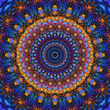 Mandala-regenboog van Marion Tenbergen