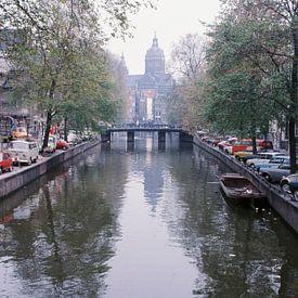 Vintage Amsterdam gracht 60s/70s van Jaap Ros