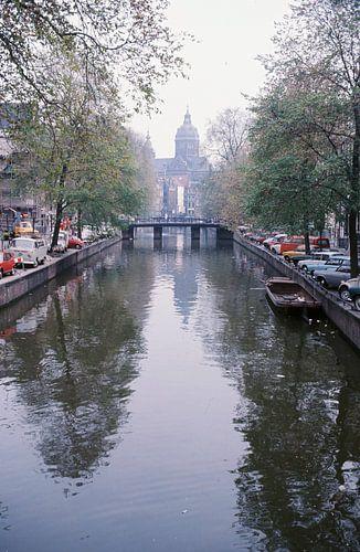 Vintage Amsterdam gracht 60s/70s van