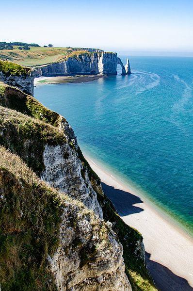 krijtrotsen van Etretat bij Normandië van Marly van Gog