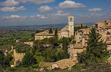 Zicht op Assisi, Italië van Adelheid Smitt