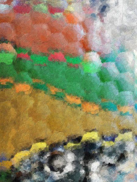 Abstrakte Sechsecke von Maurice Dawson