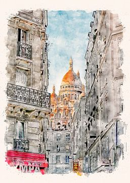 Paris Sacré-Cœur de Montmartre van Peter Roder