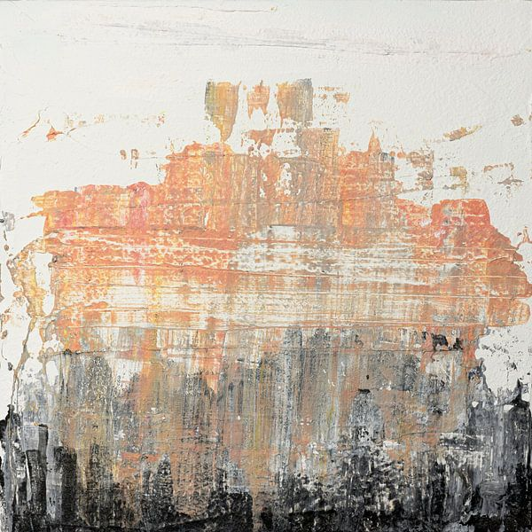 Abstract peach texture van Joske Kempink