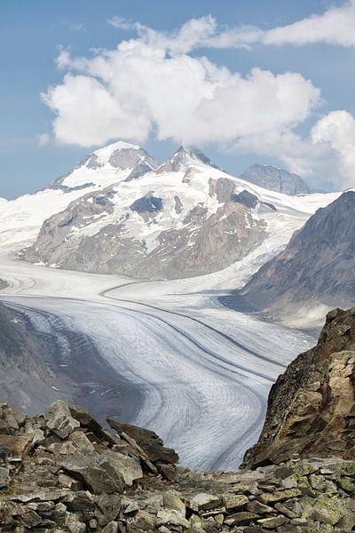 Aletschgletsjer, Zwitserland van Fotografie Egmond