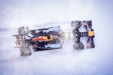 Max Verstappen F1 Snow Demo Red Bull RB7 Hahnenkamm, Kitzbühel van Kevin Baarda