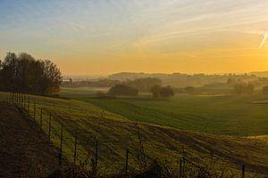 Weicher Sonnenaufgang Leefdaal von Manuel Declerck