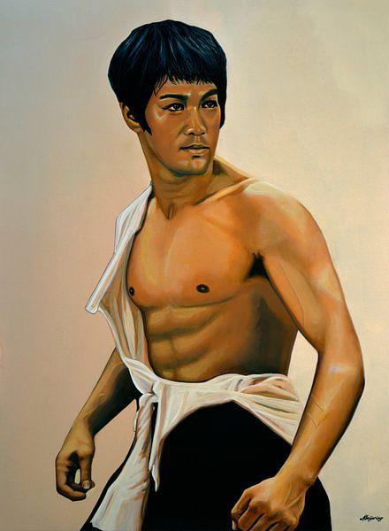 Bruce Lee Schilderij van Paul Meijering