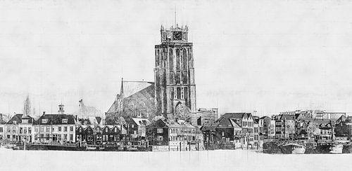 Architektonische Skizze Dordrecht