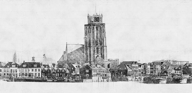 Architectonische Schets Dordrecht van Arjen Roos
