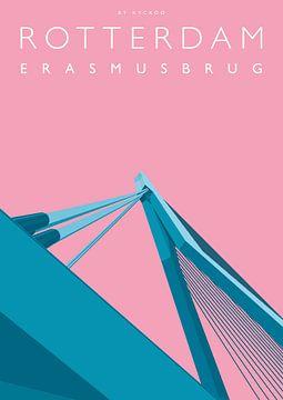 Erasmus-Brücke Rotterdam von Erwin van Wijk