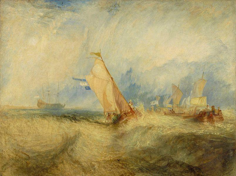 Van Tromp, die op het punt staat zijn meesters te plezieren, Ships a Sea, krijgt een Good Wetting, W van Meesterlijcke Meesters