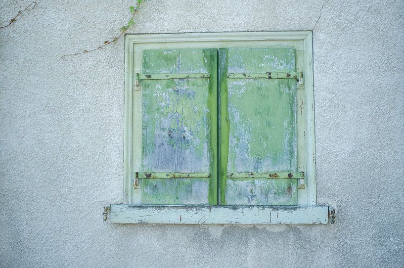 Groenblauwe luiken van Hanneke Bantje