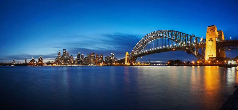 Melbourne, haven, brug en opera house van Atelier Liesjes