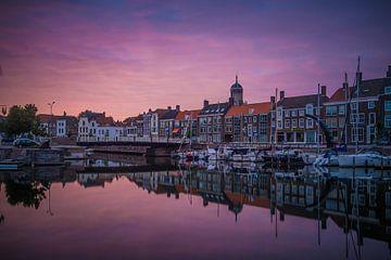 Sunset Middelburg van Bert Zuidweg