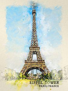 Eiffeltoren van Printed Artings