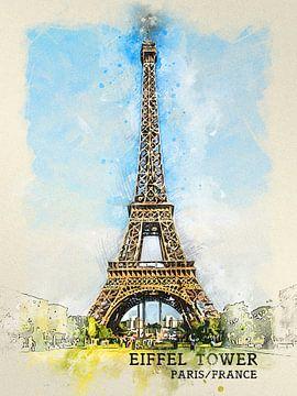 Eiffelturm von Printed Artings