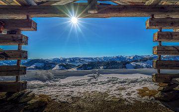 Uitzicht winterlandschap van Mario Calma