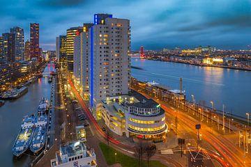Vue des Boompjes, Rotterdam sur Arisca van 't Hof