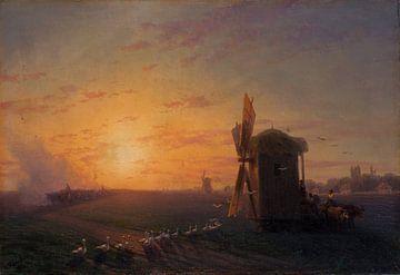 Steppe bei Sonnenuntergang, Ivan Ajvazovski von