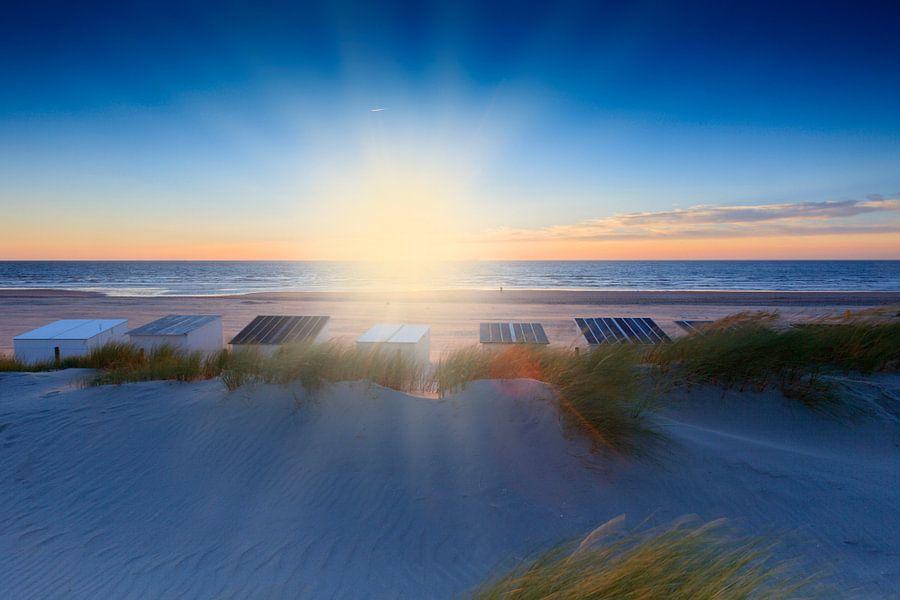 sfeervolle zonsondergang in de Noordzee  van gaps photography