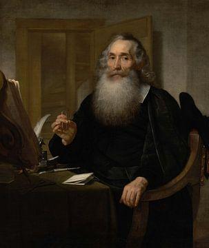 Portret van Petrus Scriverius, Bartholomeus van der Helst