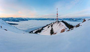 winters uitzicht vanaf het jagersmonument van Leo Schindzielorz