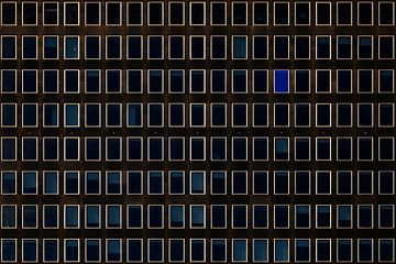 Blauw raam