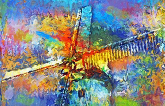 Windmühle abstrakt  von Marion Tenbergen