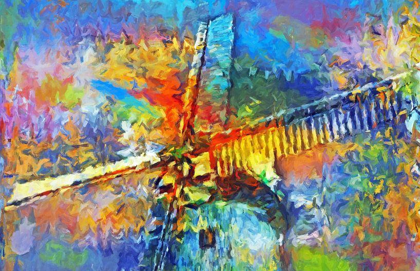 Windmolen abstract van Marion Tenbergen